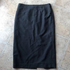 NWOT charcoal stripe skirt
